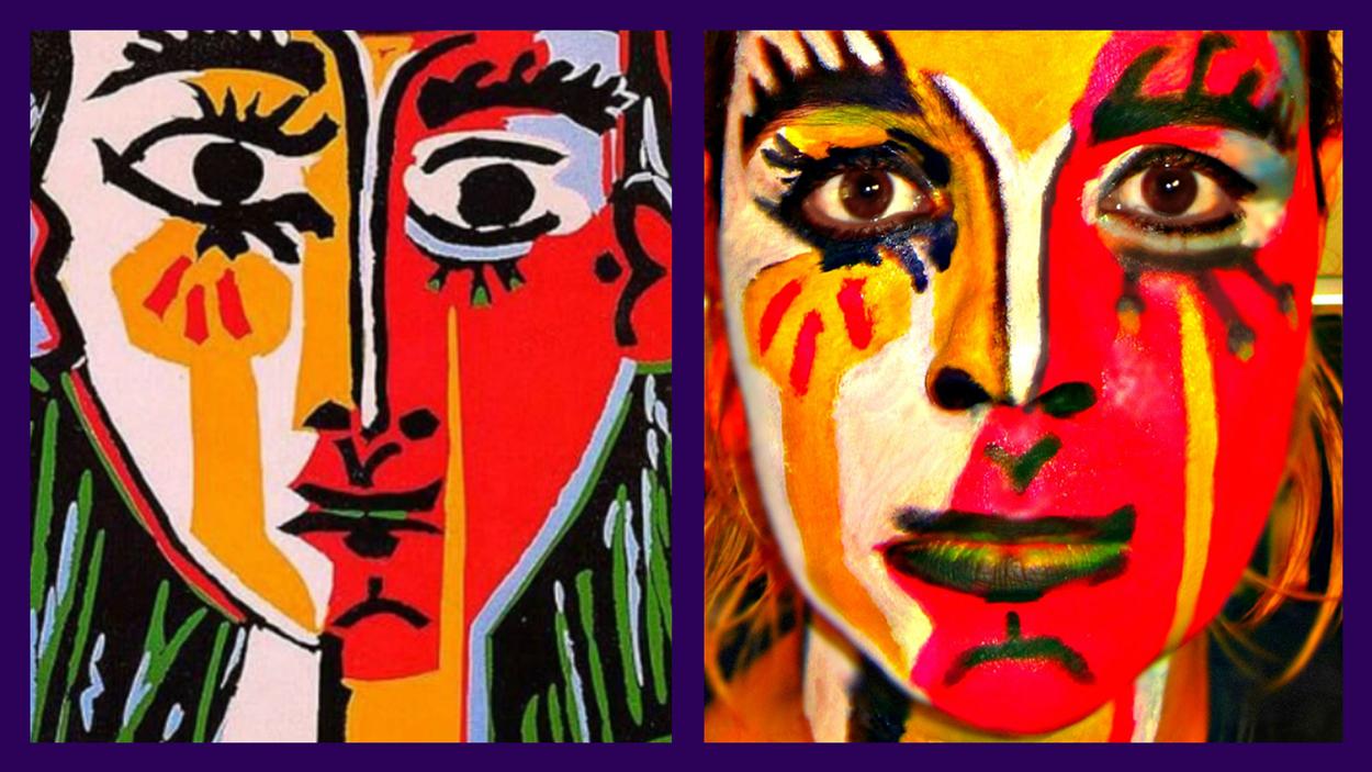 Работа Пикассо в исполнении Насти Степановой