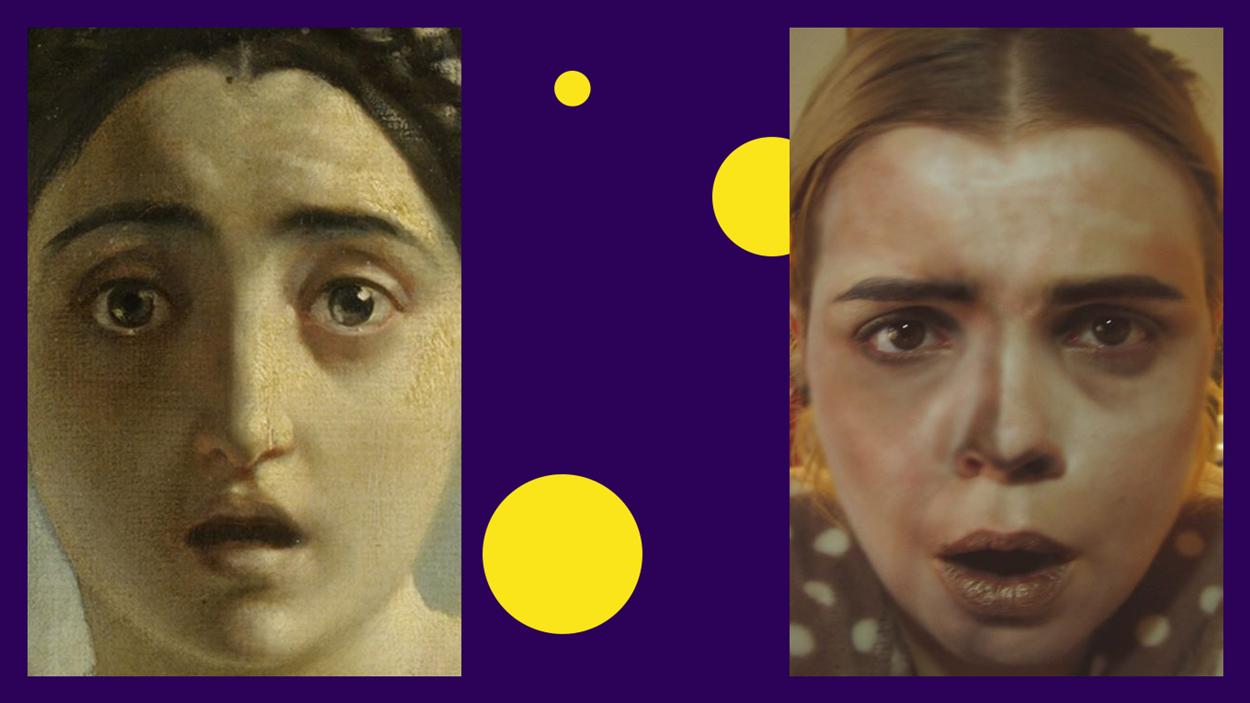 Фрагмент картины Карла Брюллова «Последний день Помпеи» в исполнении Насти Степановой