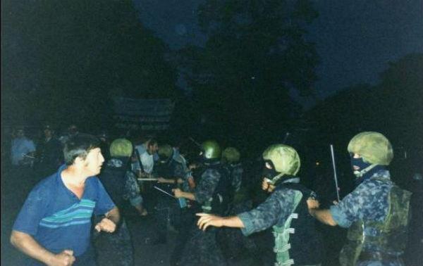 Разгон шахтеров на День независимости