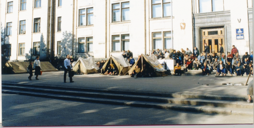 Пикет шахтеров летом 1997 года