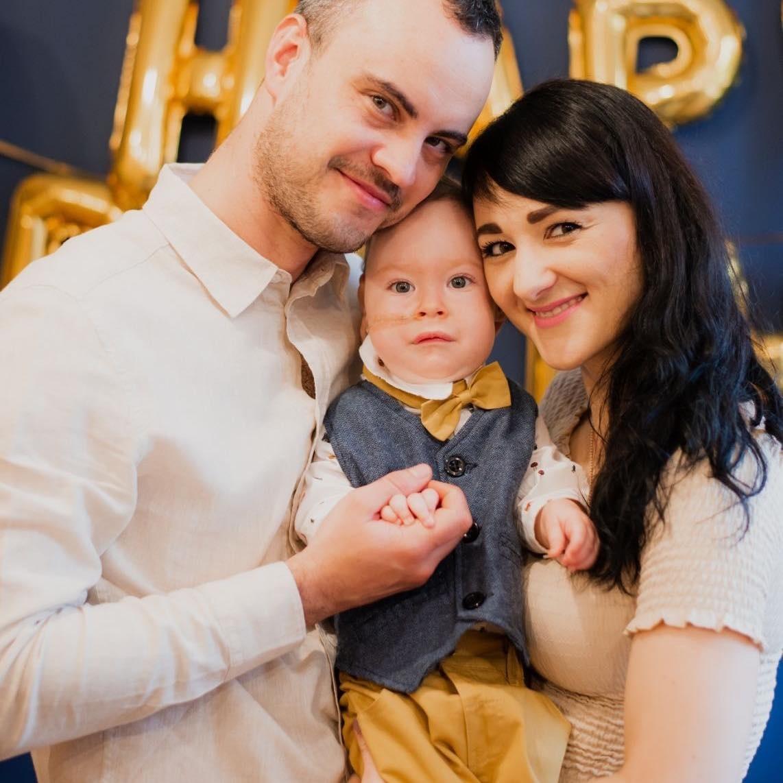 Елисей Зеленский и его родители.