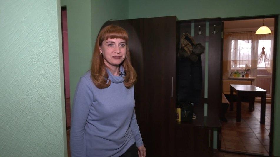 Оксана Бородачева в новой квартире