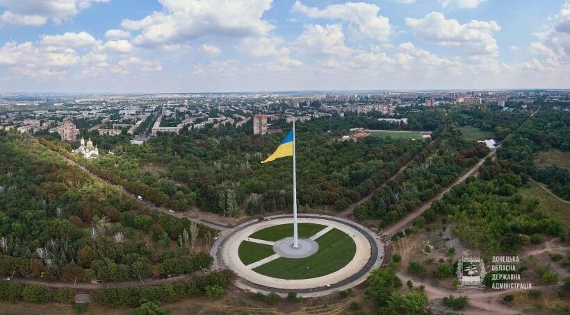 Установка флагштока в Краматорске